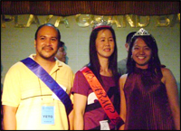 Ms. Betty Igancio (center) crowned as the Ms. HRM Practitioner 2010 for Region 3. Also in picture were Mr. Loreto Palad of Balanga Water District, hailed as the Mr. HRM Practitioner 2010 for Region 3 and Ms. Lea Marasigan Ms. HRM Practitioner.