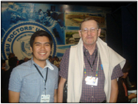BPSU Representative to the 1st Cebu International TESOL Conference, Mr. Rowell G. De Guia, together with world renowned linguist, Professor Roger Nunn.